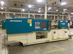1 - Mitsubishi 180MSJ-10 176 Ton x 9 Oz Shot Injection Molding Machine