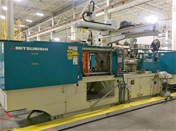 1 - Mitsubishi 270MSJ-17 264 Ton x 16.3 Oz Shot Injection Molding Machine