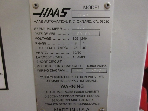 chris mechanical services webcast auction 1 haas tl 2 3 60 1 haas tl 2 3 60 208 240v cnc turning center ‹ ›