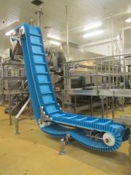 1 - Meyer SBC-1010-18x18  Sanitary Belt Elevator Conveyor