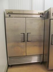 1 - True T-49DT  Stainless Steel Double Door Freezer/ Refrigerator