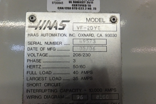 accurate machine tool llc online auction 1 haas vf 2dyt cnc rh hilcoind com haas mini mill wiring diagram haas rs232 wiring diagram