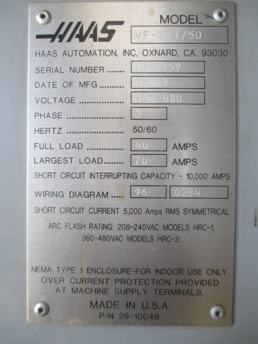 mic group online auction 1 haas vf 3yt 50 cnc 1 haas vf 3yt 50 cnc vertical machining center thumb ‹ ›