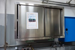 1 - Stainless Steel Wall Mounted Spaces Double Cabinet