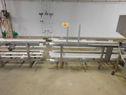 1 - Lot of Stainless conveyor frames (no belts)