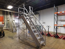 1 - Stainless mobile safety Ladder