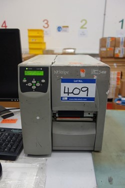 1 - Zebra S4M Stripe Label Printer