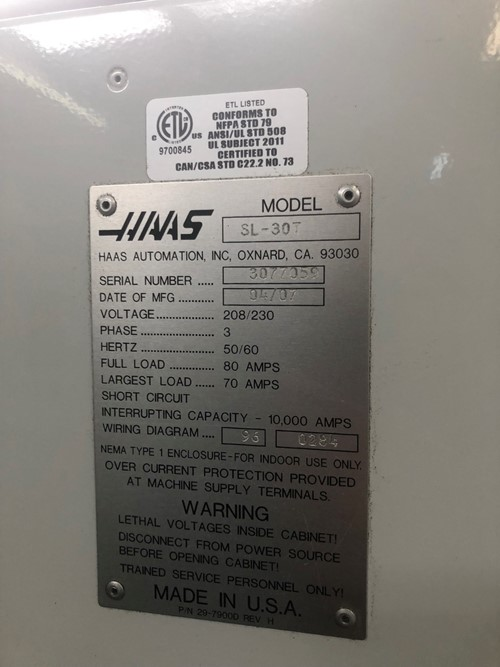 S & K Machineworks & Fabrication - Online Auction - 1 - Haas ... Haas Chip Conveyor Wiring Diagram on