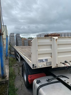 1 - Weightlifter 3 Axle Flat Bed Trailer