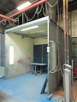 1 - 10' W x 12' D x 10' H Paint Booth