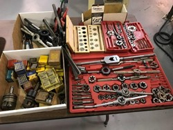 1 - Lot Assorted Thread Tap & Die Tooling