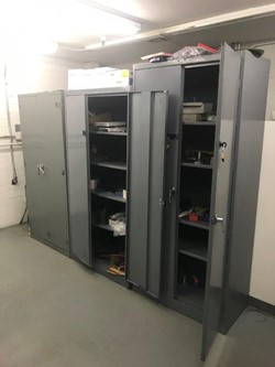 1 - Lot Content of Room Consisting of Assorted, Bolt Bins, Cabinets and Misc. Hardware