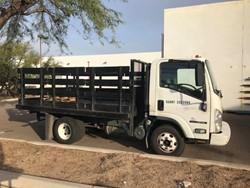 1 - Isuzu NPR -  Tru/Cam 12' Diesel Stake Bed Truck