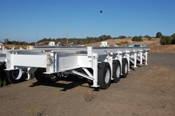1 - Martinez-Turek  132,000 Lb Capacity Loaded Motor Transport Trailer