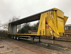 1 - Crane Fruehauf DJCSAS Tri Axle Curtainside Trailer