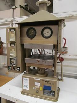 1 - PHI PW2230-X1-3-5-7 20 Ton Heated Platen Manual Hydraulic Press