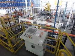 1 - Automatic System for Palletizing, Pallet Transferring and Pallet Wrapping  Palletizer