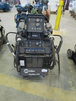 1 - Miller PipeWorx 400 Serial Number: MJ174011B , Tig , Mig , Stick Capable, One Touch Process Change Over ,Miller