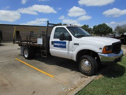 1 - Ford F550 12' Flatbed Truck