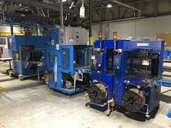 1 - Muller Martini Stacker, Wrapper & Strapping Line - Printing