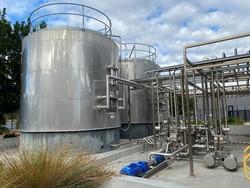 1 - Juice Storage & Cider Canopy  2 x Stainless Steel Juice Buffer Tanks (720hl each) Storage Tank