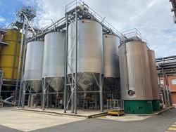 1 - Raw Material Handling & Storage  Malt silos can handle 150T Storage System
