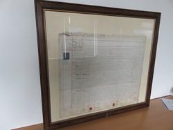 1 - Framed Handwritten Contractual Document