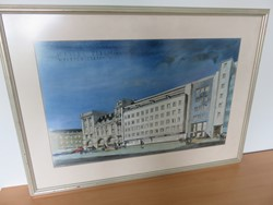 1 - Framed Painting of Debenhams Store from Welbec St London