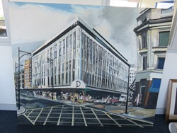 1 - Oil on Canvas of Oxford Street Store