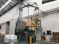 1 - De-bagging Powder Handling System with hoists Bagging Line
