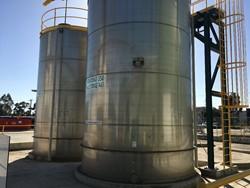 1 - 2x 65000 L Stainless Steel Tanks, 3.9m W x 6m H Storage Tank