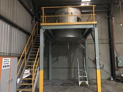 1 - Stainless Steel 4000 Litre tank in platform Storage Tank