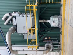 1 - Donaldson Dust Extraction, 9 bag on stand Dust Collector