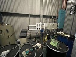 1 - Ink Tanks and Pumps Heatset Ink Tanks x 4 approximate measurements 3.6 height 1.7 L 1.3 w Coldset In Tank
