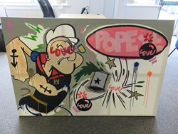 1 - I Love Popeye Oil On Canvas (Signed)